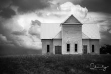 Limited Edition Church on Hill in B&W © Imagery by Charly™ | All Rights Reserved