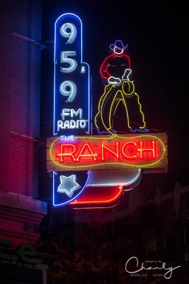 Fort Worth radio station neon sign at night © Imagery by Charly™ | All Rights Reserved