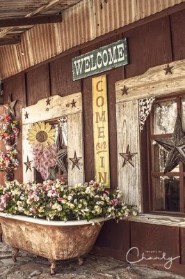 Cafe exterior rustic country welcome © Imagery by Charly™ | All Rights Reserved