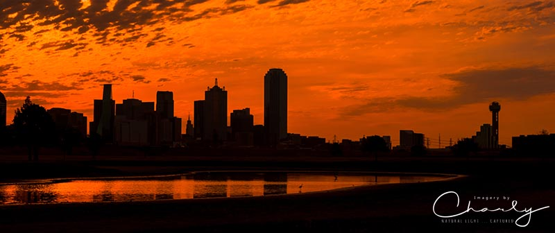 Fiery Dallas Skyline © Imagery by Charly | All Rights Reserved