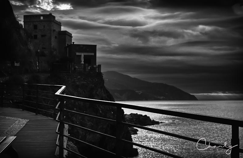 Film noir Black and White of Old Monterosso Italy © Imagery by Charly™ | All Rights Reserved