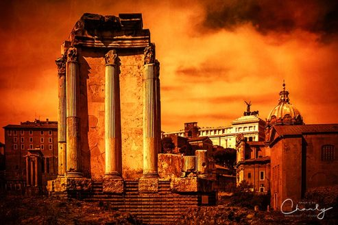 Rome Burning © Prints of Italy™   All Rights Reserved