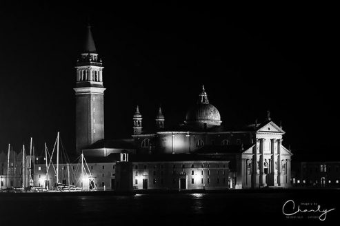 San Giorgio Maggoire at Night © Prints of Italy™ | All Rights Reserved