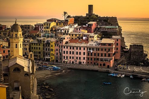 Italy Travels Vernazza at Sunset © Prints of Italy™ | All Rights Reserved